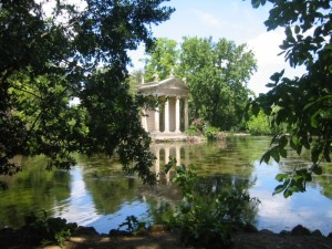 The park at the Villa Borghese