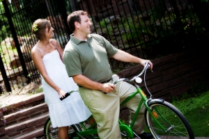 Peddling to our honeymoon